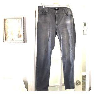 Express 14 grey stretch skinny jeans!